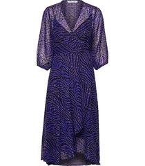 veneta dress aop 11243 knälång klänning lila samsøe & samsøe