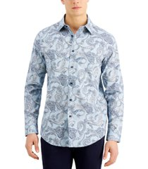tasso elba men's esperzino paisley shirt, created for macy's
