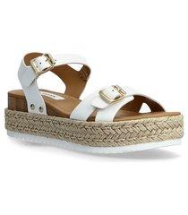 cam sandal sandaletter expadrilles låga vit steve madden