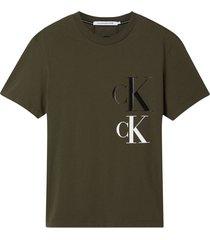camiseta de algodón reciclado verde calvin klein