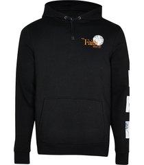 river island mens black faith print hoodie