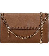 stella mccartney shoulder bag in leather color faux leather