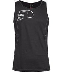 core coolskin singlet t-shirts sleeveless svart newline