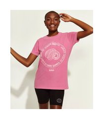 t-shirt feminina mindset obvious signos áries manga curta decote redondo rosa