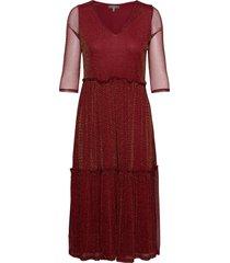 bxsandy long dr new knälång klänning röd b.young