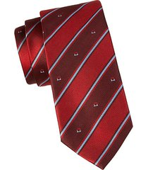 bold stripe silk tie