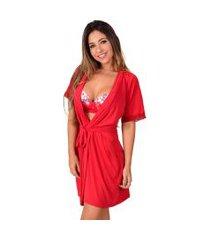 robe  vip lingerie liganete liso vermelho