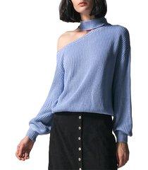 me azul one jersey de manga larga con hombros