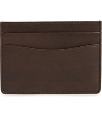 men's nordstrom men's shop liam leather card case - brown
