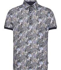 8815 jersey - denton s. overhemd met korte mouwen blauw sand
