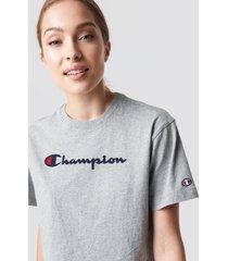 champion crewneck tee 111228 - grey