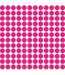 adesivo de parede bolinhas rosa pink 144un - rosa - dafiti