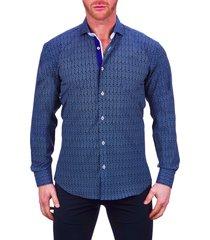 men's maceoo einstein regular fit stretch button-up shirt