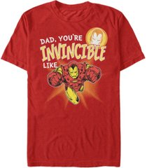 marvel men's comic collections invincible like iron man short sleeve t-shirt