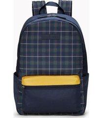 tommy hilfiger men's plaid logo backpack plaid -
