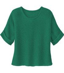 gebreide trui van linnen, smaragd 36/38