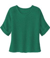 gebreide trui van linnen, smaragdgroen 44
