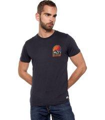 camiseta azul navy jack & jones