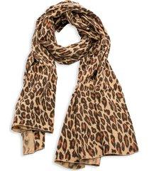 portolano women's animalier leopard-print scarf - tan multi