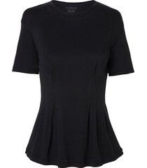 camiseta le lis blanc cristina ii malha algodão preto feminina (preto, gg)