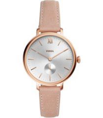 fossil kalya three-hand nude leather watch 36mm