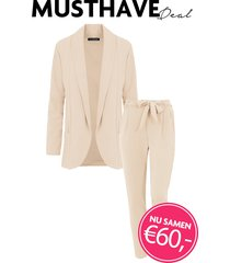musthave deal dames pak beige