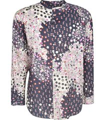 dsquared2 assorted print round collar shirt