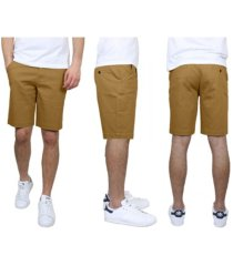 galaxy by harvic men's 5-pocket flat-front slim-fit stretch chino shorts