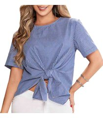 blusa celine azul  para mujer croydon