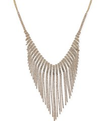 "thalia sodi gold-tone rhinestone statement necklace, 16"" + 3"" extender, created for macy's"
