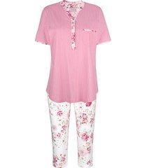 pyjama mona roze::wit::groen