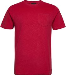 authentic cotton tee t-shirts short-sleeved röd superdry