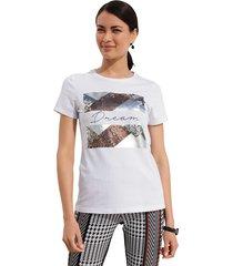 shirt amy vermont wit::zilverkleur