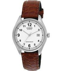 reloj analógico hombre casio mtp-1175e-7b - marrón con blanco