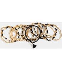 hattie beaded bracelet set - black