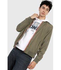 chaqueta verde oliva-naranja jack & jones