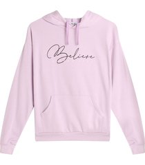 buzo hoodie belive color morado, talla l