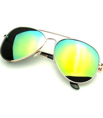 original gold polarized full mirror metal aviator sunglasses