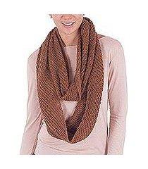 100% alpaca infinity scarf, 'inspired andes' (peru)