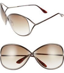 women's tom ford miranda 68mm open temple oversize metal sunglasses -