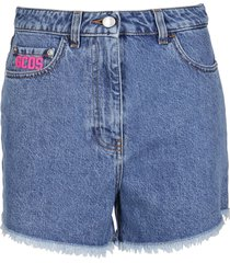 gcds blue denim shorts