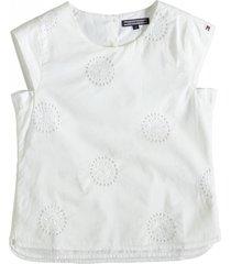 tommy hilfiger snow white blouse top katoen met 2 lagen