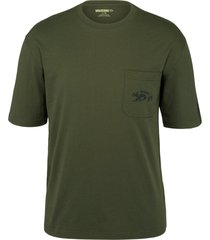 wolverine men's short sleeve graphic pocket tee- wolverine graphic olive, size m