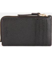 marc jacobs women's small top zip wallet - black