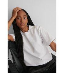 na-kd basic oversize t-shirt - white