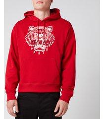 kenzo men's classic tiger hoodie - cherry - xxl