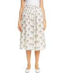 women's brock collection rovere floral print midi skirt