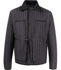 craig green vertical quilted jacket - black
