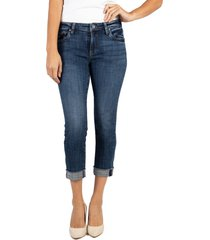 women's kut from the kloth amy raw hem crop straight leg jeans