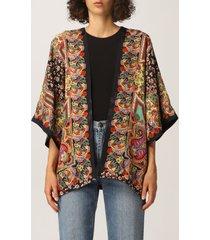 etro cape etro kimono with paisley and floral motif